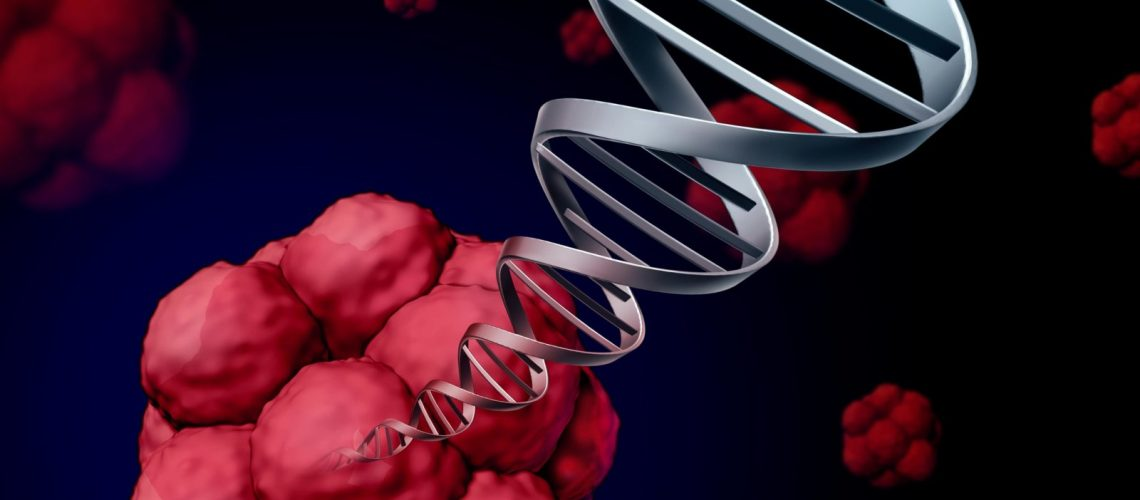 Stem cell dna or stemcell genetics concept as a three dimensional illustration of biological cells that divide through mitosis found in humans with a double helix strand with chromosomes emerging out as a medical science healthcare research symbol as a 3D illustration.